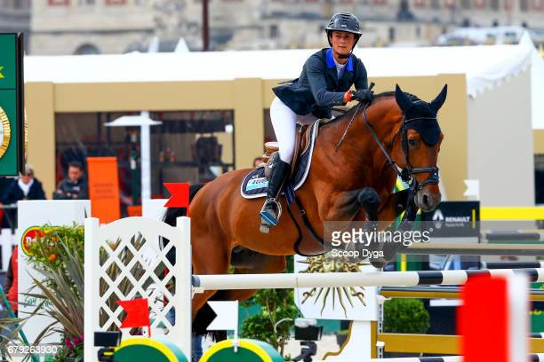 Penelope Leprevost of France rides Vagabond de la Pomme during the Jumping of the Chateau de Versailles at Chateau de Versailles on May 5 2017 in...