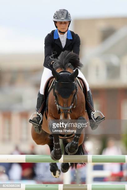 Penelope Leprevost of France riding Urano de Cartigny during Longines Global Champions Tour on August 4 2017 in London England