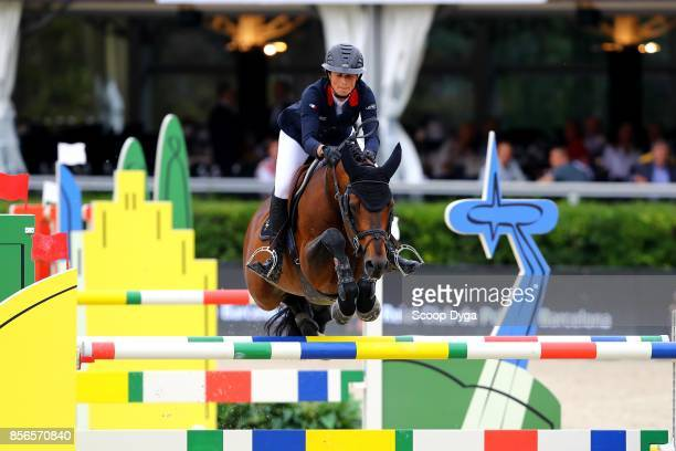 Penelope LEPREVOST of France riding Urano de Cartigny during the Longines FEI Nations Cup Jumping Final at CSIO5 on October 1 2017 in Barcelona Spain