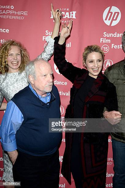 Penelope Mitchell Richard Dreyfus and Dianna Agron attend the 'Zipper' premiere during the 2015 Sundance Film Festival on January 27 2015 in Park...