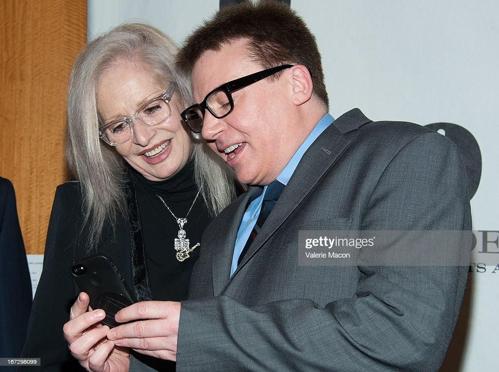 Penelope Spheeris and Mike Myers attends Academy Of Motion Picture Arts And Sciences Hosts A 'Wayne's World' Reunion at AMPAS Samuel Goldwyn Theater on April 23, 2013 in Beverly Hills, California.