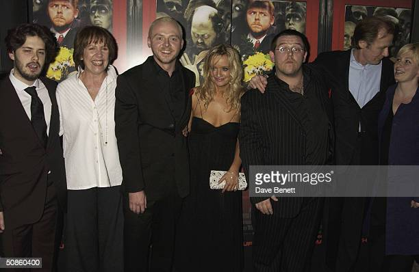 Penelope Wilton Simon Pegg Lucy Davies Nick Frost and Bill Nighy attend the UK Premiere of 'Shaun of the Dead' at The Vue in Leicester Square...