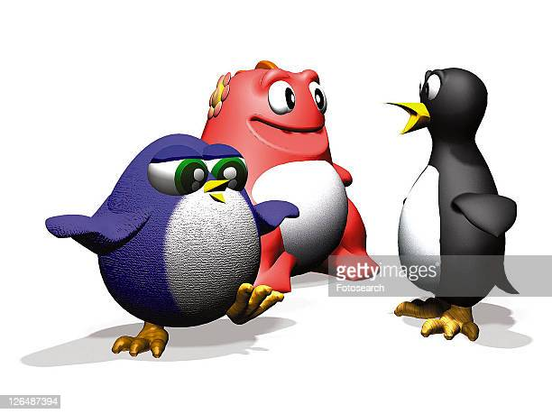 3D, penguin, cartoon, cute, animal