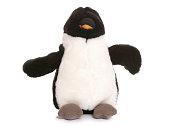 Penguin soft toy on white background