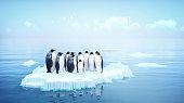 penguins 3d illustration