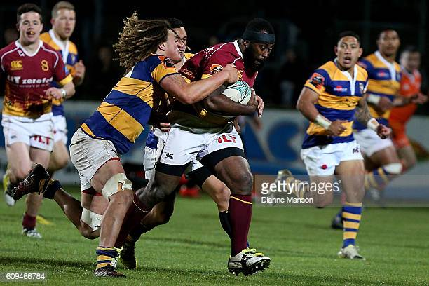 Peni Ravai of Southland on the charge during the Mitre 10 Cup round 6 match between Southland and Bay of Plenty at Rugby Park Stadium on September 21...