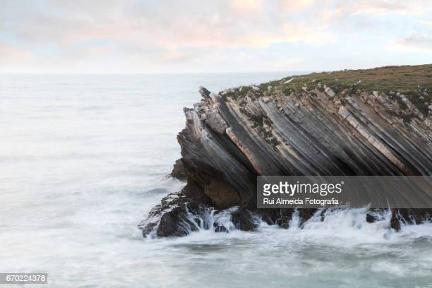 Peniche coastline along the Atlantic Ocean