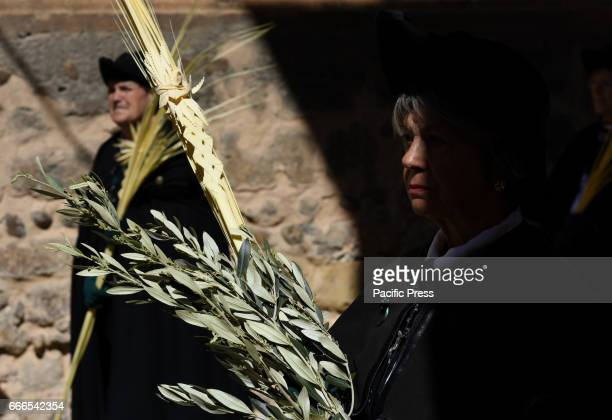A penitent during the Palm Sunday procession in Almazán north of Spain