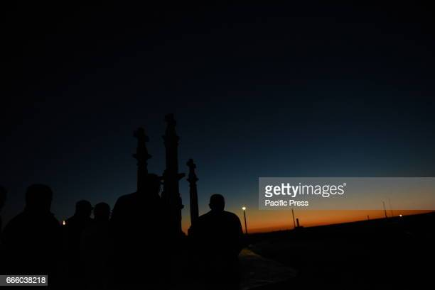 CINTO ALMAZáN SORIA SPAIN Penitents pictured during the procession of Friday of Sorrows in Almazán north of Spain