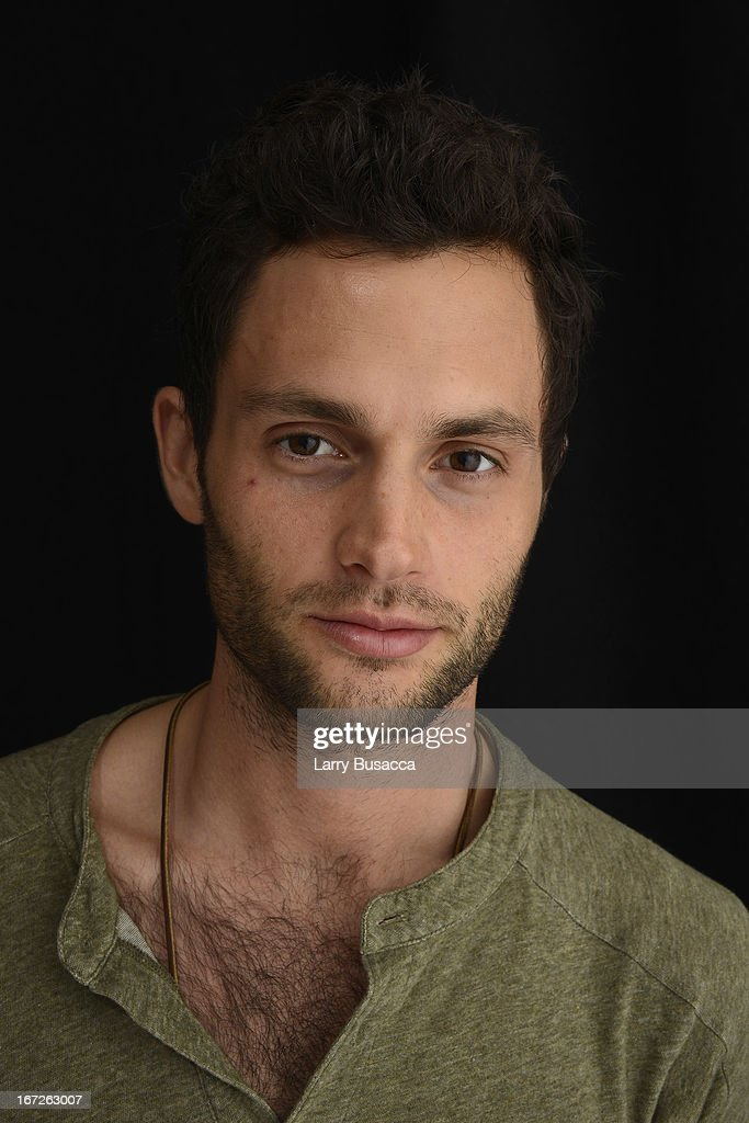 Penn Badgley, actor in the film 'Greetings From Tim Buckley' poses at the Tribeca Film Festival 2013 portrait studio on April 23, 2013 in New York City.
