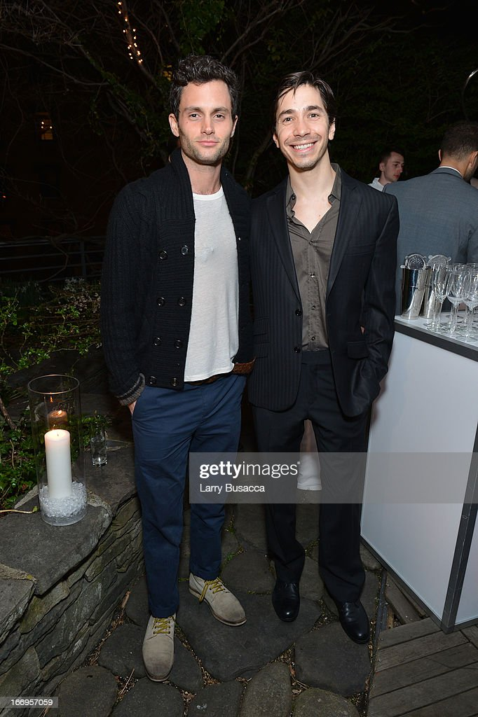<a gi-track='captionPersonalityLinkClicked' href=/galleries/search?phrase=Penn+Badgley&family=editorial&specificpeople=544488 ng-click='$event.stopPropagation()'>Penn Badgley</a> and <a gi-track='captionPersonalityLinkClicked' href=/galleries/search?phrase=Justin+Long&family=editorial&specificpeople=240305 ng-click='$event.stopPropagation()'>Justin Long</a> attend IWC and Tribeca Film Festival Celebrate 'For the Love of Cinema' on April 18, 2013 in New York City.