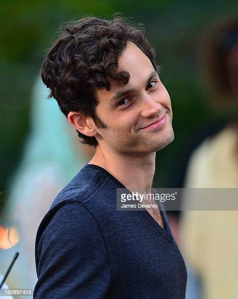 Penn Badgley filming on location for 'Gossip Girl' on August 28 2012 in New York City