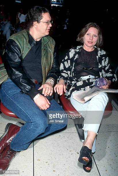 Penn Jillette and Deborah Harry during Deborah Harry and Penn Jillette Sighting at Los Angeles International Airport April 23 1995 at Los Angeles...