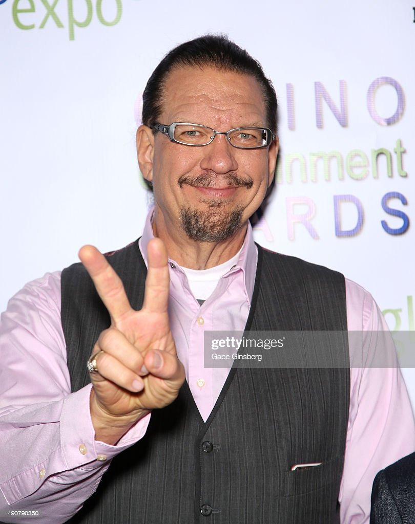 Penn Jillette of the comedy/magic team Penn Teller attends Global Gaming Expo's Casino Entertainment Awards at Vinyl inside the Hard Rock Hotel...