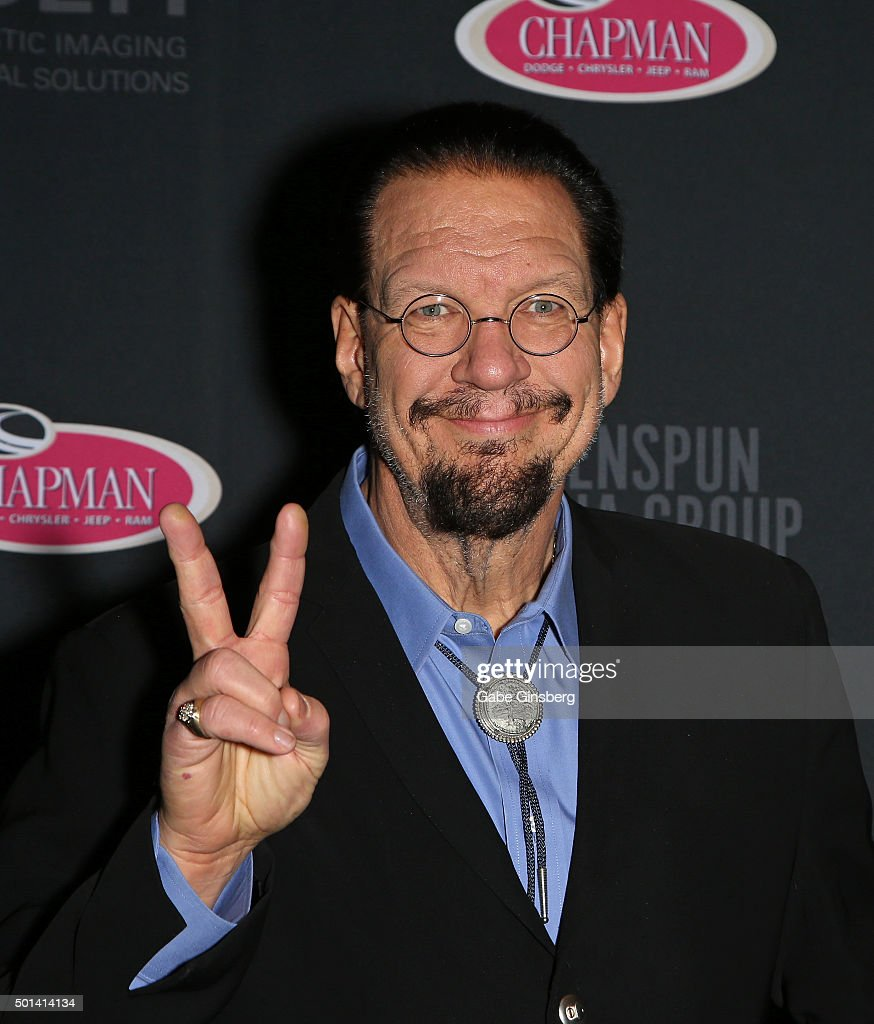 Penn Jillette of the comedy/magic team Penn Teller attends the Mondays Dark 2nd anniversary at The Joint inside the Hard Rock Hotel Casino on...