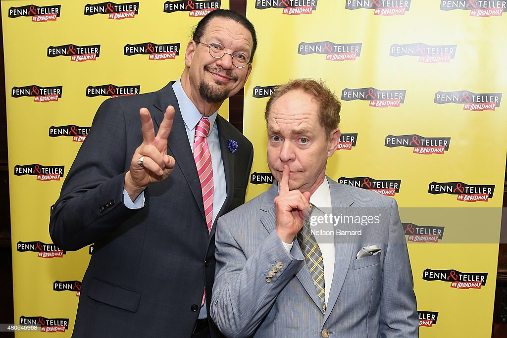Penn Jillette Teller attend the 'Penn Teller On Broadway' after party at Sardi's on July 12 2015 in New York City