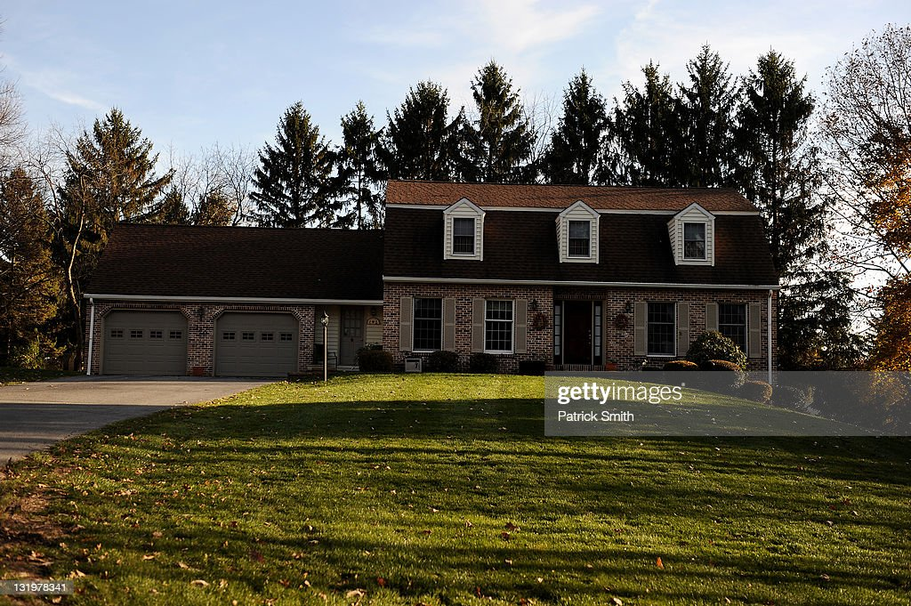 Penn State defensive coordinator Jerry Sandusky house is sen on November 9, 2011 in University Park, Pennsylvania.