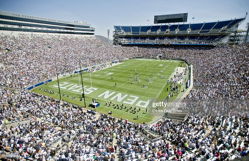 Penn State fans are out in force for the Blue-White spring football game on Saturday, April 12, 2014, at Beaver Stadium in University Park, Pa.