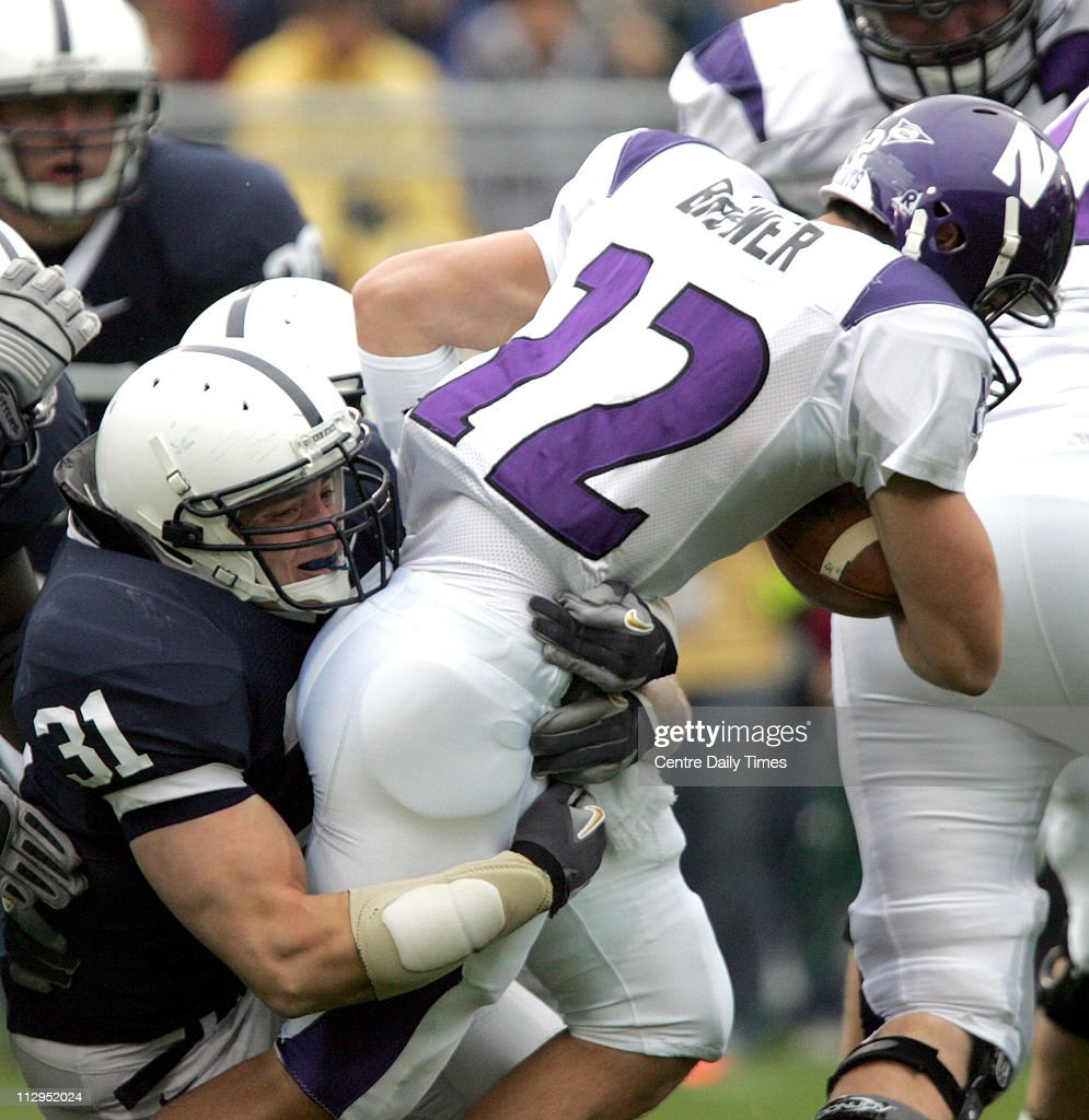 Penn State linebacker Paul Posluszny 31 sacks Northwestern