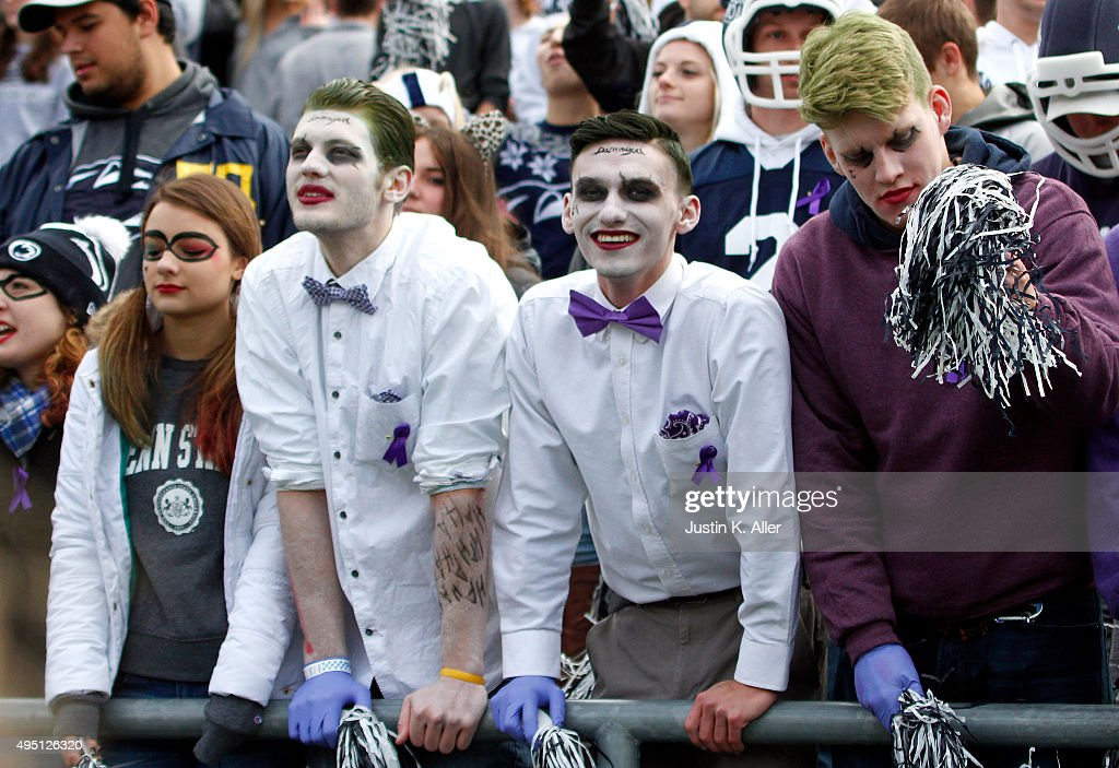 Penn State students are seen dressed up for Halloween during the game between the Penn State Nittany Lions and the Illinois Fighting Illini on October 31, 2015 at Beaver Stadium in State College, Pennsylvania.