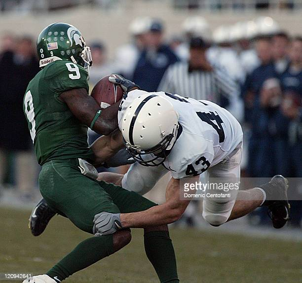 Penn State won its second Big Ten title with a 3122 victory over MSU in East Lansing Saturday November 19 2005