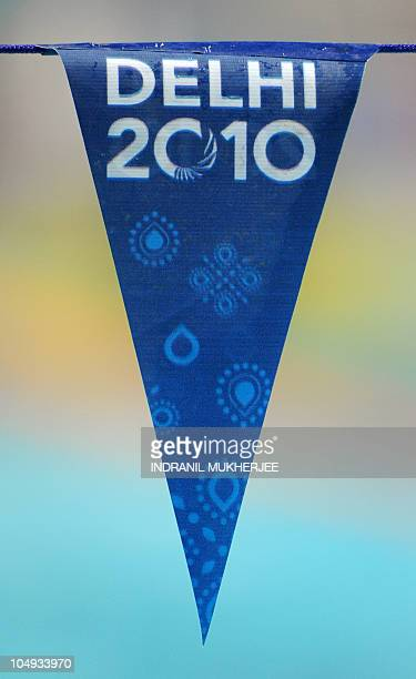 Pennant for The Commonwealth Games at the SP Mukherjee Aquatics Centre in New Delhi on October 7 2010 The Commonwealth Games are taking place in the...