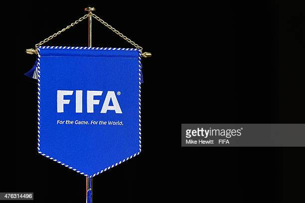 FIFA pennant on display during a Cameroon Press Conference Training Session at the FIFA Women's World Cup 2015 at the BC Place Stadium on June 7 2015...