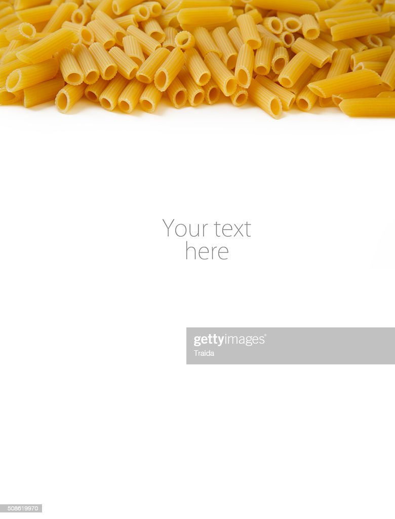 Penne pasta dry feathers food texture pattern : Stock Photo