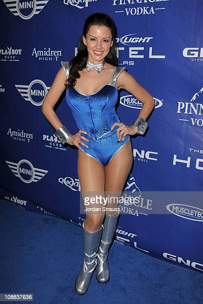 Pennelope Jimenez attends the Bud Light Hotel Playboy Party with performances by Snoop Dogg Warren G and Flo Rida on February 4 2011 in Dallas Texas