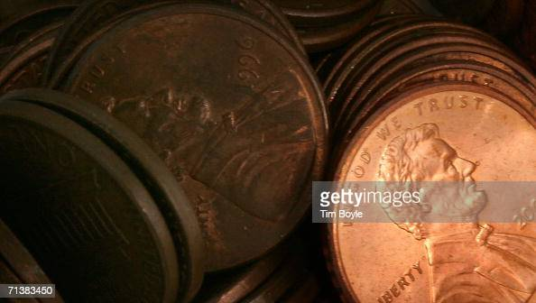 Pennies lay in a pile July 6 2006 in Des Plaines Illinois According to the US Mint says a penny costs more to make than it's worth 12 cents prompting...