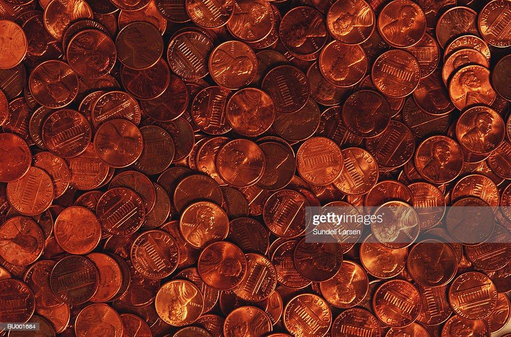 Pennies : Stock Photo