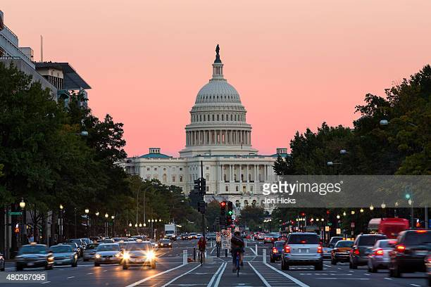 Pennsylvania Avenue at dusk