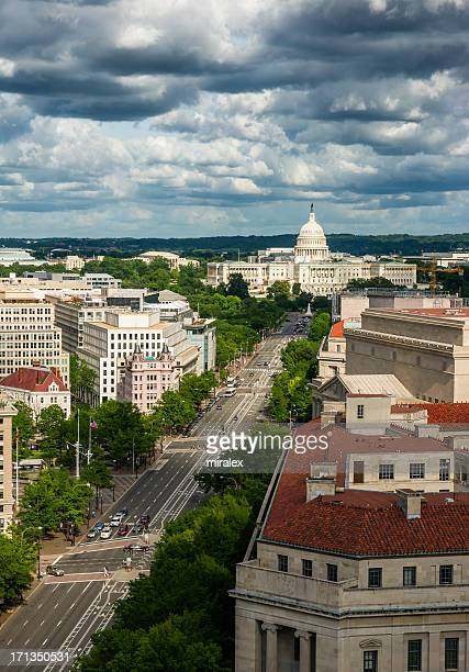 Pennsylvania Avenue und United States Capitol, Washington, D.C.  USA,