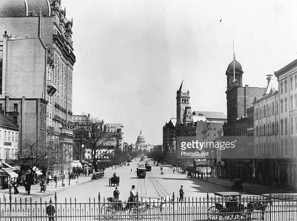 Pennsylvania Avenue looking towards the Capitol Washington DC 1865