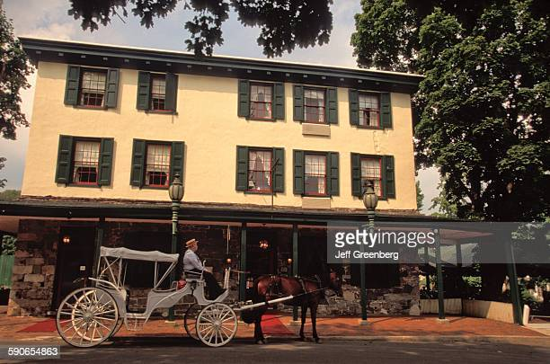 Pennsylvania Bucks County New Hope Logan Inn ColonialStyle Architecture With HorseDrawn Carriage In Front