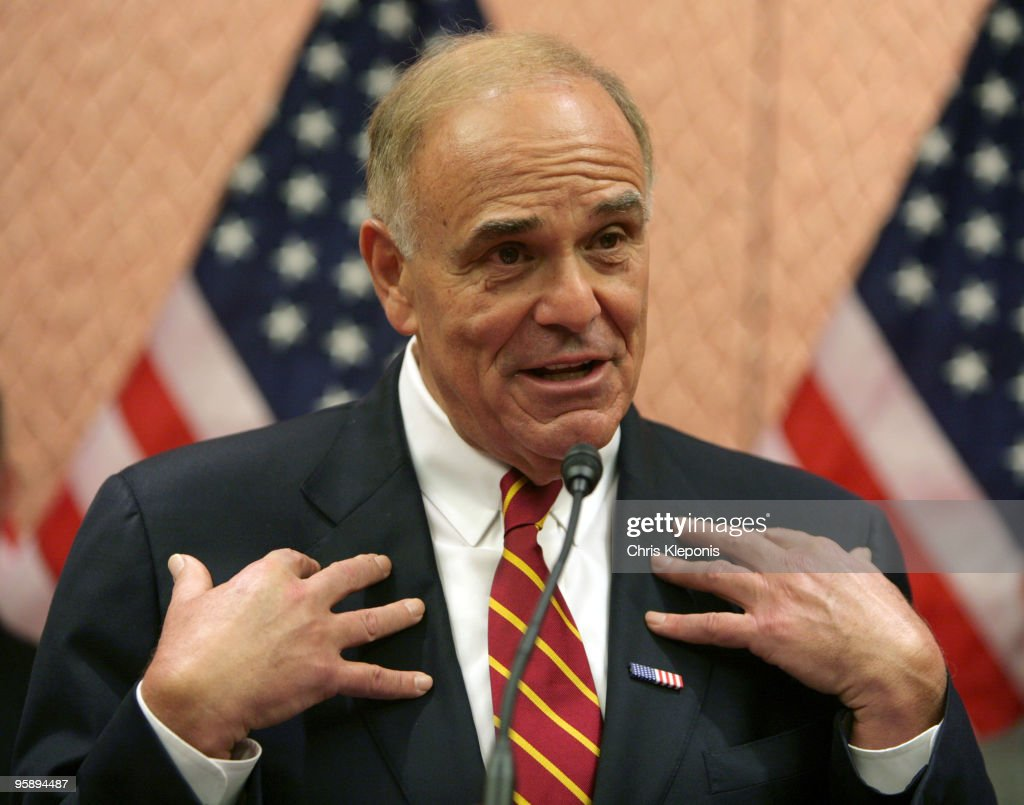 Pennsylvania Gov. <a gi-track='captionPersonalityLinkClicked' href=/galleries/search?phrase=Ed+Rendell&family=editorial&specificpeople=2445310 ng-click='$event.stopPropagation()'>Ed Rendell</a> announces his support for the creation of a National Infrastructure on Capitol Hill January 20, 2010 in Washington, DC. A coalition of elected and former office holders and business people assembled to announce their plan to help persuade Congress and the Obama administration to fund and support a bank which would be created to fund local and national infrastructure projects and thereby promote the US economy and create jobs.