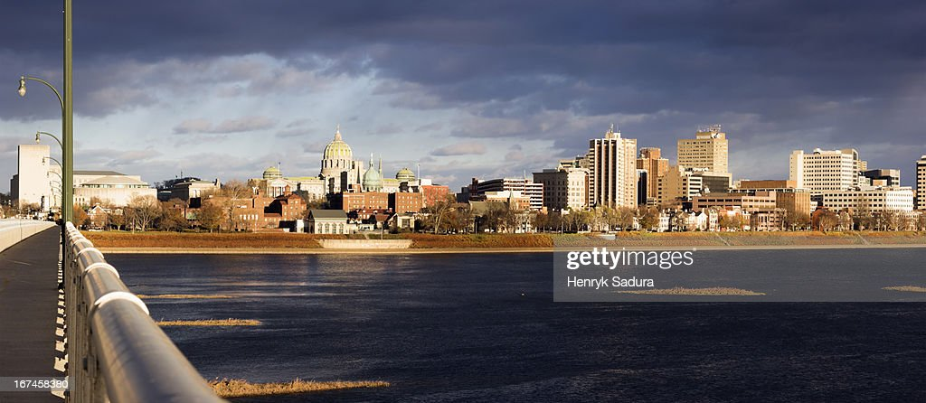 USA, Pennsylvania, Harrisburg, cityscape : Stock Photo