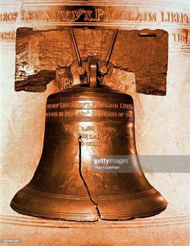 USA, Pennsylvania, Philadelphia, Liberty Bell (Digital Composite) : Stock Photo