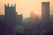 USA, Pennsylvania, Pittsburgh at sunrise