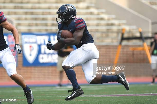 Pennsylvania Quakers running back Karekin Brooks runs the ball during a college football game between the Penn Quakers and the Ohio Dominican...