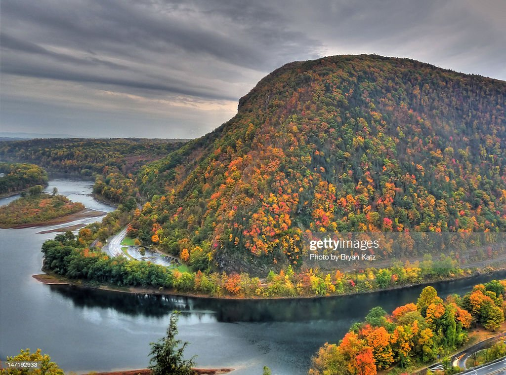 Pennsylvania side of Delaware water Gap : Stock Photo