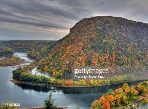 Pennsylvania side of Delaware water Gap : Foto stock