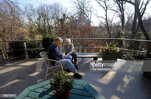 Penny and Dick Doolittle have their portrait made on her deck overlooking the site For decades the the National Geospatial Intelligence agency has...