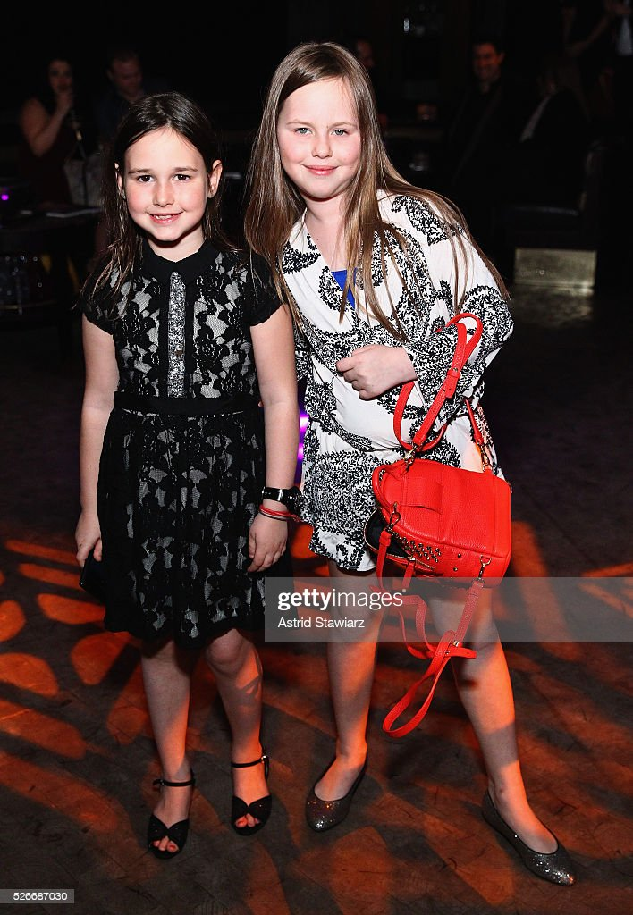 Penny Binn and Cece Binn attend an exclusive event with DuJour's Jason Binn and Nicole Vecchiarelli to celebrate the 'Steven Tyler...Out On A Limb' charity show benefitting Janie's Fund at LAVO on April 30, 2016 in New York City.