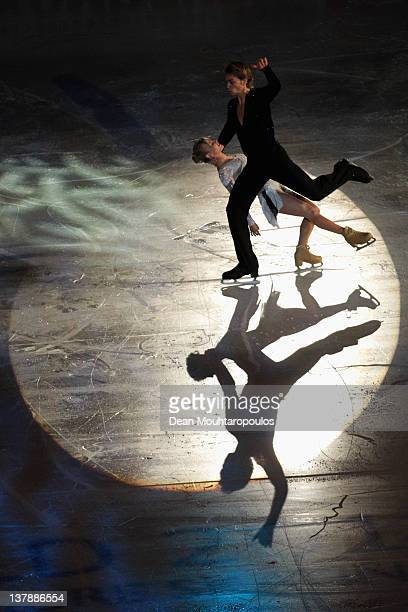 Penny Coomes and Nicholas Buckland in action during the Exhibition Galla during the ISU European Figure Skating Championships at Motorpoint Arena on...