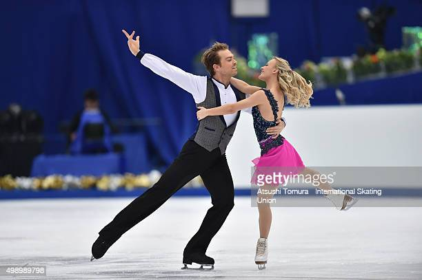 Penny Coomes and Nicholas Buckland of Grate Britain perform during the Ice dance short dance on day two of the NHK Trophy ISU Grand Prix of Figure...