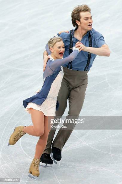 Penny Coomes and Nicholas Buckland of Great Britain compete in the Ice Dance Short Dance during day one of the ISU Grand Prix of Figure Skating NHK...