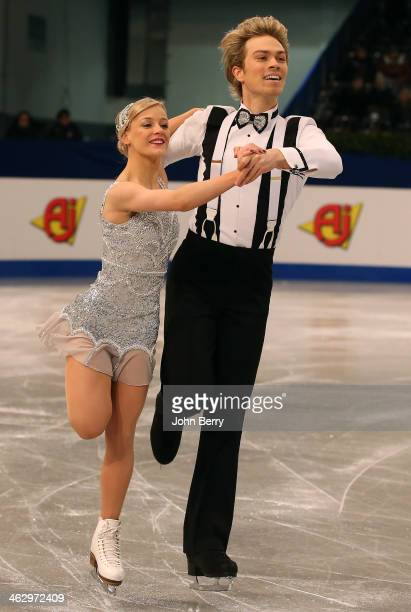 Penny Coomes and Nicholas Buckland of Great Britain compete in the Ice Dance Short Dance event of the ISU European Figure Skating Championships 2014...