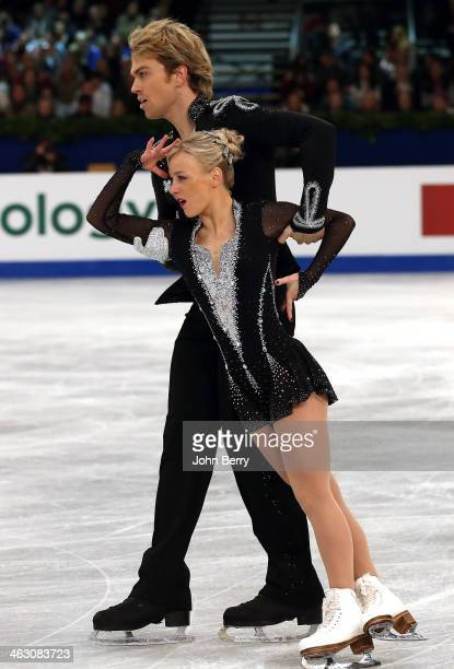 Penny Coomes and Nicholas Buckland of Great Britain compete in the Ice Dance Free Dance event of the ISU European Figure Skating Championships 2014...