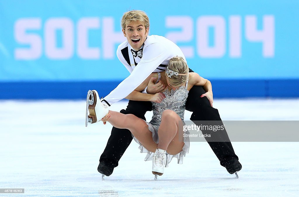 Penny Coomes and Nicholas Buckland of Great Britain compete in the Figure Skating Team Ice Dance - Short Dance during day one of the Sochi 2014 Winter Olympics at Iceberg Skating Palace on February 8, 2014 in Sochi, Russia.